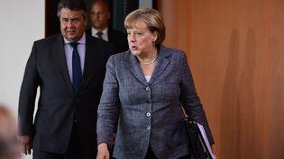 La chancelière allemande Angela Merkel à Berlin (Allemagne), le 17 août 2016. (TOBIAS SCHWARZ / AFP)