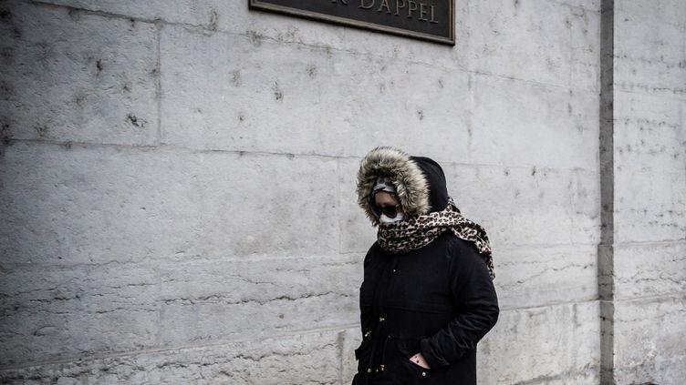 Cécile Bourgeon arrive à la cour d'appel de Lyon (Rhône), le 4 décembre 2020. (JEFF PACHOUD / AFP)