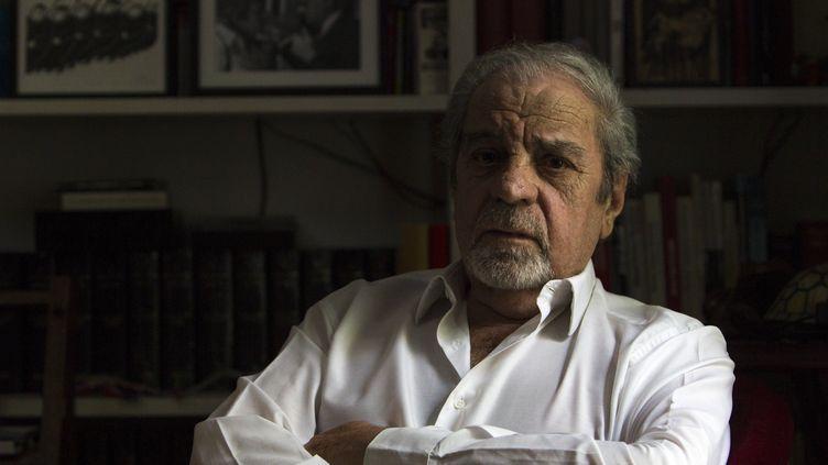L'écrivain barcelonais Juan Marsé, chez lui le le 6 avril 2016 (QUIQUE GARCIA / EFE / NEWSCOM / MAXPPP)