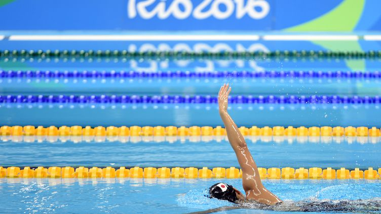 Un nageur japonais dans le centre aquatique olympique, à Rio de Janeiro, au Brésil, le 1er août 2016. (PHILIPPE MILLEREAU / DPPI MEDIA)