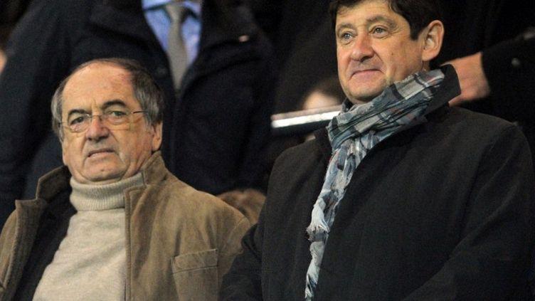 Le président de la Fédération Française de Football (à gauche), Noël le Graët, ici au côté du Ministre des Sports, Patrick Kanner. (FRED TANNEAU / AFP)