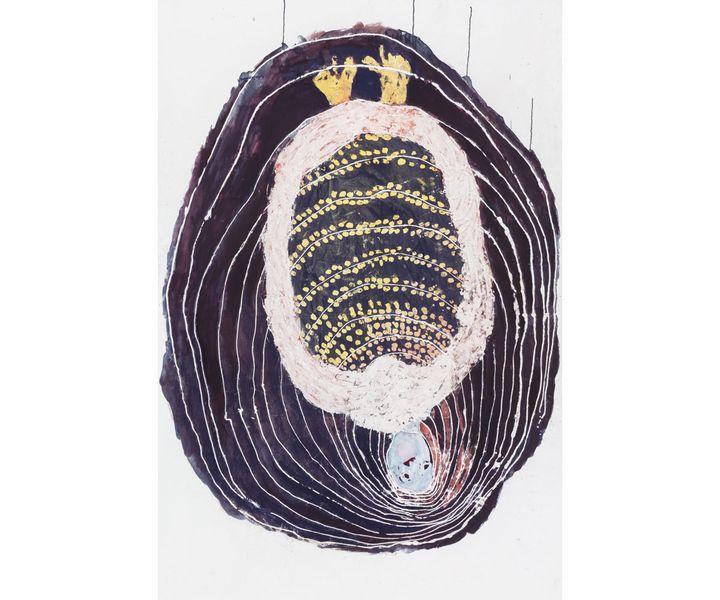 "Portia Zvavahera, ""Kubuda Mudumbu Rinerima (Rebirth from the Dark Womb)"", 2019, Collection particulière, Zurich, Suisse (© Portia Zvavahera, courtesy Stevenson, Cape Town and Johannesbourg / Photo Mario Todeschini)"