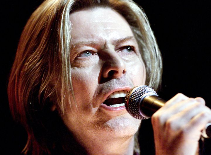 David Bowie chante le 24 juillet 2000 à New York (Etats-Unis). (BRAD RICKERBY / REUTERS)