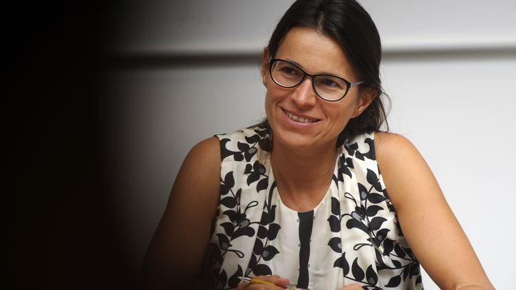 La ministre de la Culture et de la Communication, Aurélie Filippetti, le 25 août 2012 lors de l'université d'été du PS à La Rochelle (Charente-Maritime). (JEAN-PIERRE MULLER / AFP)