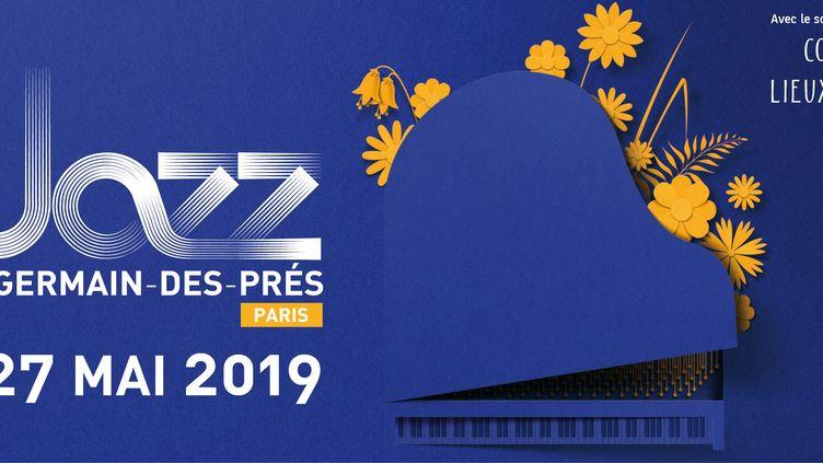 L'affiche de l'édition 2019 du festivalJazz à Saint-Germain-des-Prés (Jazz à Saint-Germain-des-Prés)