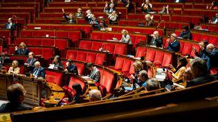 L'hémicycle du Sénat, à Paris, le 24 février 2020. (XOSE BOUZAS / HANS LUCAS / AFP)