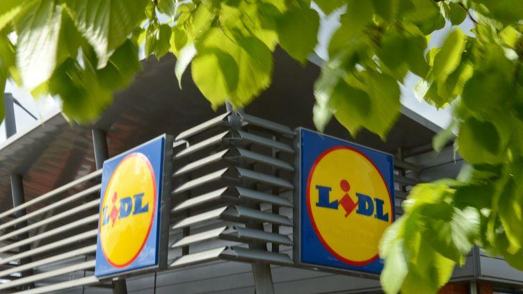 Un magasin Lidl à Luttre, en Belgique (illustration). (JEAN-LUC FLEMAL / BELGA MAG / AFP)