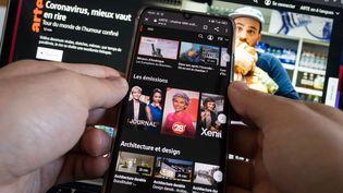 Ecran d'accueil de la plateforme Arte.tv, gratuite et accessible depuis la TNT. (RICCARDO MILANI / HANS LUCAS)