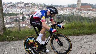 Le Français Rémi Cavagna va-t-il s'inspirer à Tokyo de sa victoire sur le contre-la-montre du Tour de Romandie à Fribourg le 2 mai 2021 ? (JEAN-CHRISTOPHE BOTT / KEYSTONE)