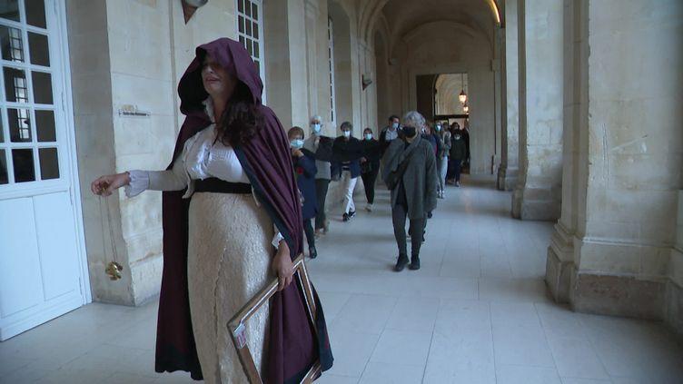 Les âmes lointaines par L'Incertaine compagnie, à l'Abbaye-aux-Dames à Caen. (P. Latrouitte / France Télévisions)
