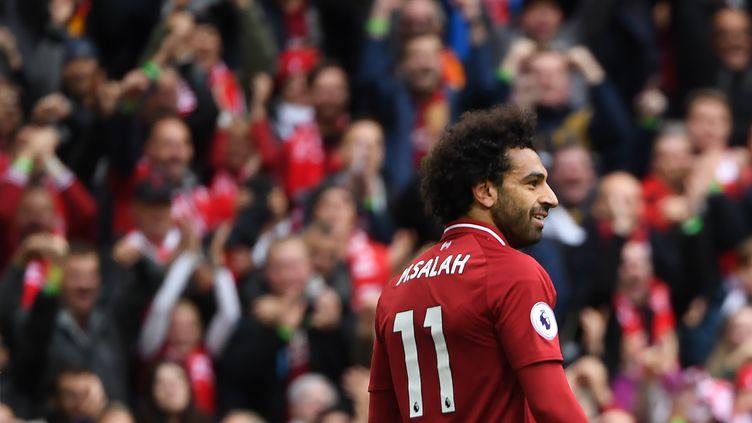 L'attaquant égyptien Mohamed Salah (PAUL ELLIS / AFP)
