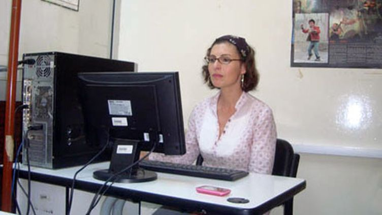 La journaliste Olfa Belkhassine (Photo Laurent Ribadeau Dumas)