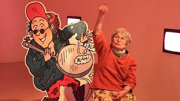 """Bernadette Després, la dessinatrice de de """"Tom-Tom et Nana"""", au Festival d'Angoulême. (LAURENCE HOUOT / CULTUREBOX)"""