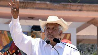 Andres Manuel Lopez Obrador,candidat à l'élection présidentielle au Mexique. (ALFREDO ESTRELLA / AFP)