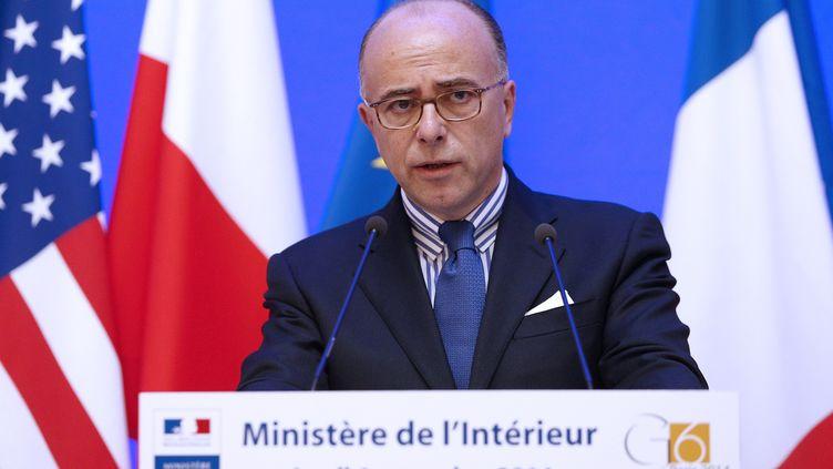 Le ministre de l'Intérieur Bernard Cazeneuve s'exprimelors d'une conférence de presse, le 6 novembre 2014, à Paris. (  MAXPPP)