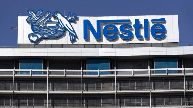 Le siège allemand de Nestlé à Francfort, le 27 août 2020. (CHRISTOPH HARDT / GEISLER-FOTOPRES / AFP)