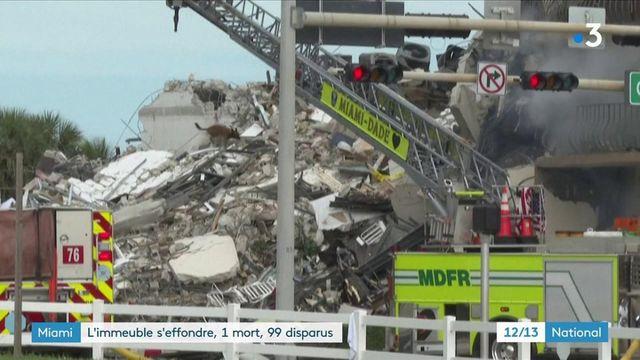 États-Unis : un immeuble résidentiel s'est effondré en Floride
