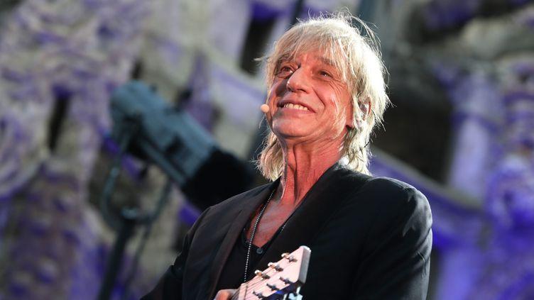 Jean-Louis Aubert en concert à Hauterives (Drôme) le 4 juillet 2019 (STEPHANE MARC / MAXPPP)