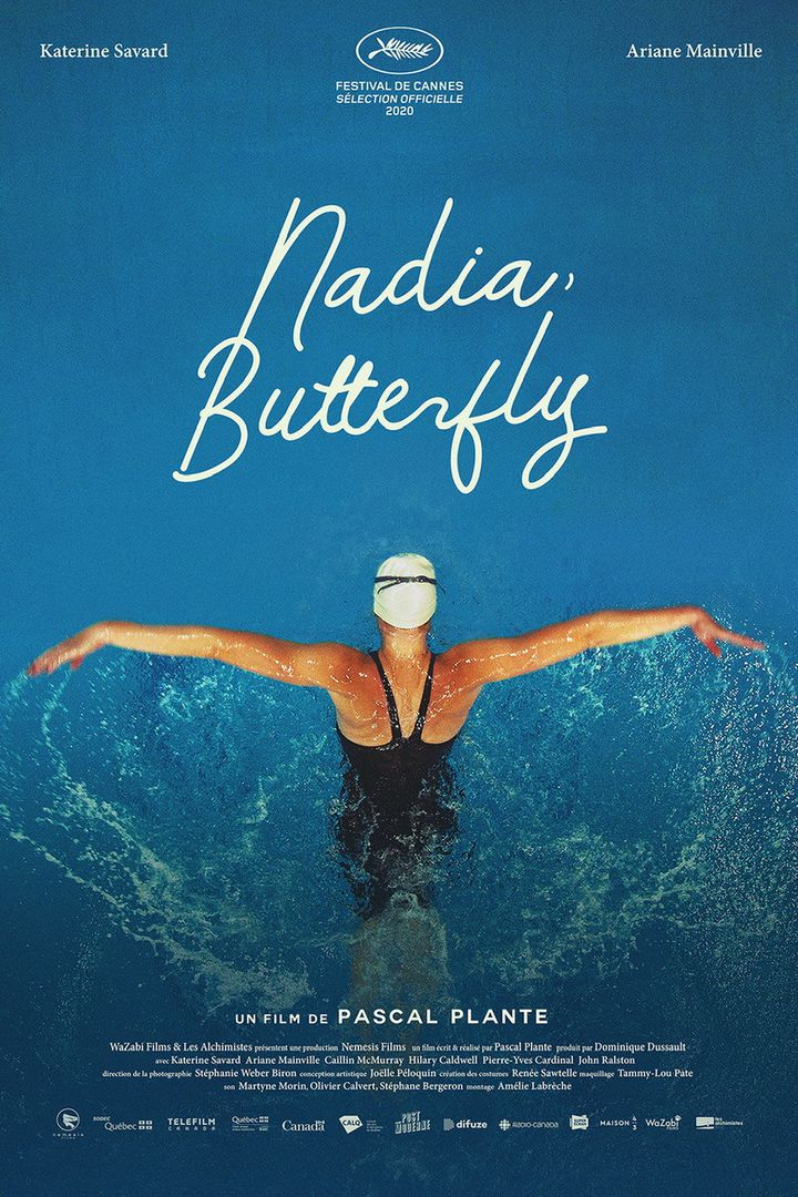 L'affiche du film Nadia, Butterfly de Pascal Plante, avec une sortie en salles prévue le 4 août 2021. (Nemesis Films)