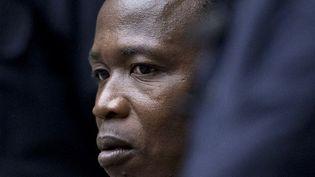 L'ancien commandant de l'Armée de résistance du Seigneur (LRA) Dominic Ongwen face aux juges de la Cour pénale internationale (CPI), le 6 décembre 2016 à La Haye (Pays-Bas). (PETER DEJONG / ANP / AFP)