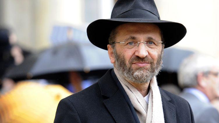 Le grand rabbin de France Gilles Bernheim, au palais de l'Elysée (Paris), le 16 décembre 2011. (BERTRAND GUAY / AFP)