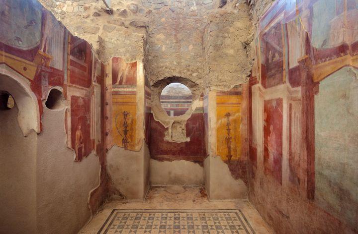 La maison du Cryptoportique à Pompéi (Italie). (MANUEL COHEN / AFP)