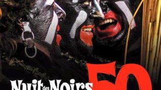 """Photo de l'affiche annonçant la """"50e nuit des Noirs"""". (LES NOIRS)"""
