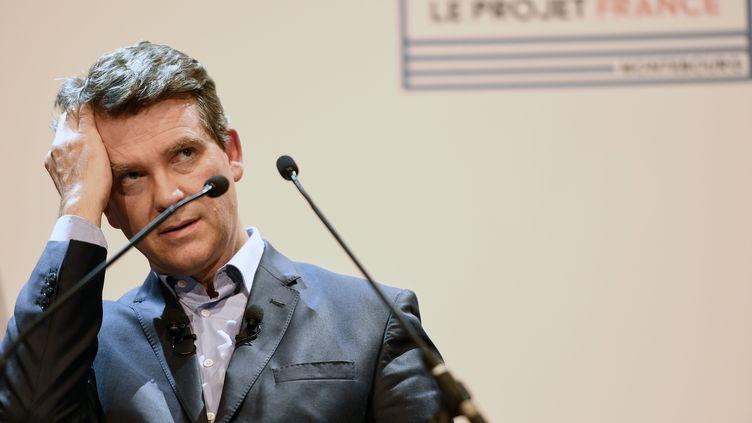 Arnaud Montebourg, le 19 septembre 2016 lors d'un meeting à Gonesse (Val d'Oise). (CHRISTOPHE ARCHAMBAULT / AFP)