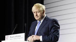 Le Premier ministre britannique, Boris Johnson, lors du sommet du G7 à Biarritz (Pyrénées-Atlantique), le 26 août 2019. (RITA FRANCA / NURPHOTO / AFP)
