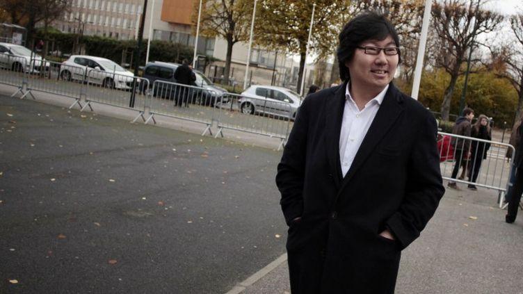 Le sénateur d'Europe Ecologie-Les Verts, Jean-Vincent Placé, lors du congrès du parti, le 30 novembre 2013, à Caen (Calvados). (CHARLY TRIBALLEAU / AFP)