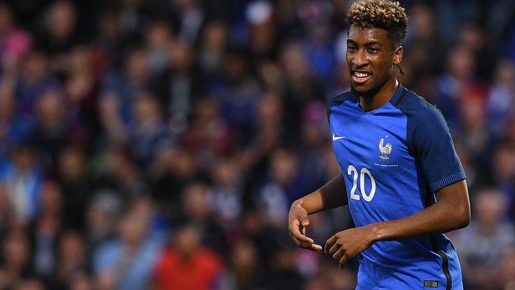 Kingsley Coman sous le maillot bleu (FRANCK FIFE / AFP)