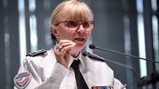 Brigitte Jullien, la directrice de l'IGPN, au ministère de l'Intérieur à Paris, le 13 juin 2019. (STEPHANE DE SAKUTIN / AFP)