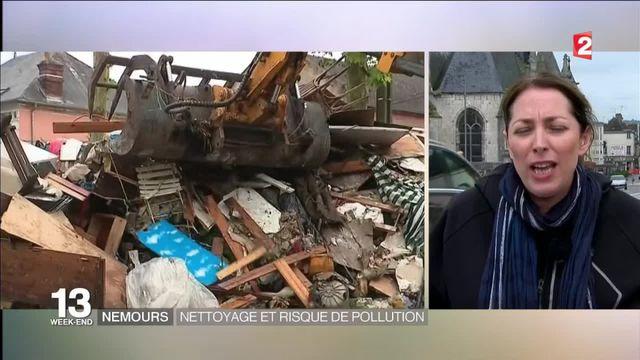 Inondations à Nemours : nettoyage et risque de pollution au fioul