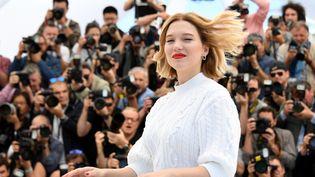 L'actrice Léa Seydoux, à Cannes, le 19 mai 2016. (ANNE-CHRISTINE POUJOULAT / AFP)