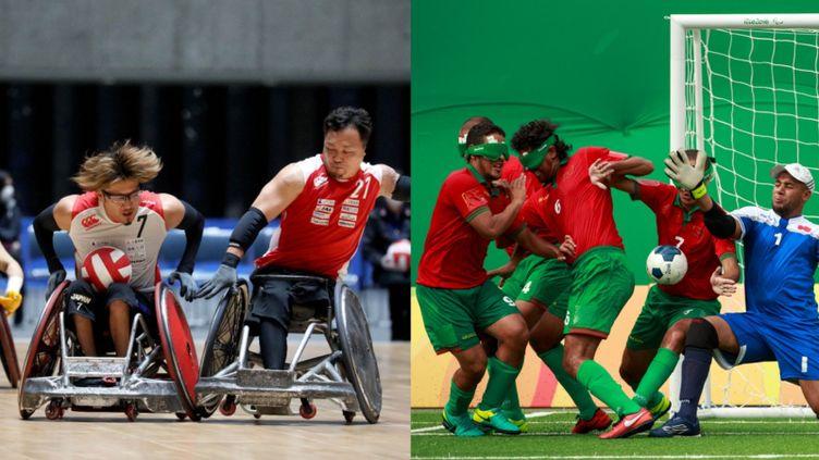 Le rugby-fauteuil est inscrit au programme des Jeux paralympiques depuis Sydney, en 2000, et le cécifoot depuis 2004, à Athènes. (Tokyo 2020 organisation / AFP - Al Tielemans for OIS/IOC / AFP)