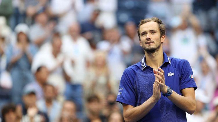 Daniil Medvedev va disputer sa troisième finale d'un tournoi du Grand Chelem, la deuxième à l'US Open. (ELSA / GETTY IMAGES NORTH AMERICA)