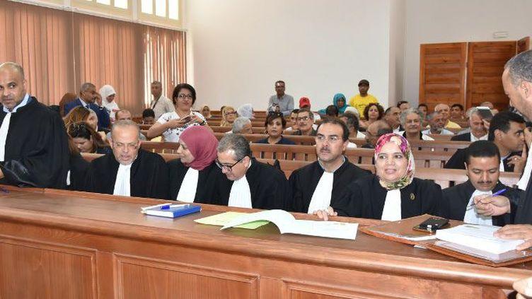 A l'ouverture du procès de Gabès (Tunisie), le 29 mai 2018, pour jugerl'affaire Kamel Matmati, militant islamiste mort sous la torture en 1991. (STRINGER / AFP)