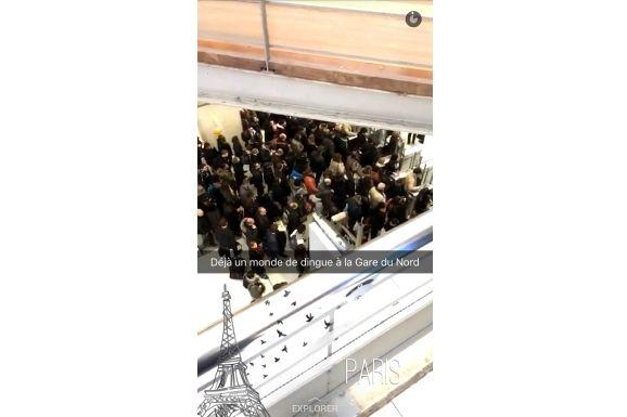"""Extrait de la """"live story Paris"""" du 2 février 2016. (SNAPCHAT)"""