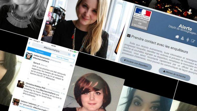 (Le mot-clé #rechercheParis sur Twitter pour retrouver des proches © Capture d'écran Twitter)