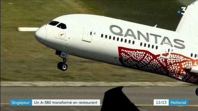 Singapour : restaurant éphémère dans un Airbus A-380