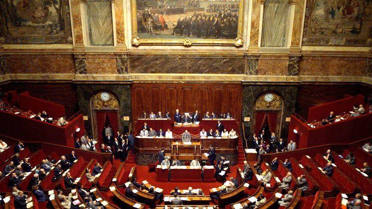 La salle du Congrès le 28 juin 1999, le Parlement y vote deux modifications à la Constitution :la ratification du traité créant la Cour Pénale Internationale (CPI) et l'entrée en vigueur de la loi sur l'égalité homme-femme.  (THOMAS COEX / AFP)