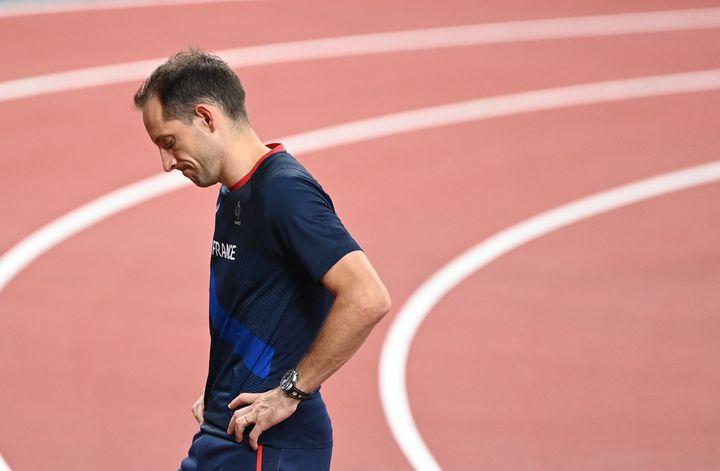 Renaud Lavillenie a été l'une des déceptions de ces Jeux de Tokyo. (CHARLY TRIBALLEAU / AFP)