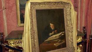 Lundi 1er avril à New York (États-Unis), une toile du peintre néerlandais Salomon Koninck a été restituée au descendant d'un collectionneur juif parisien. L'oeuvre avait été volée par les nazis sous l'occupation. (CAPTURE D'ÉCRAN FRANCE 3)