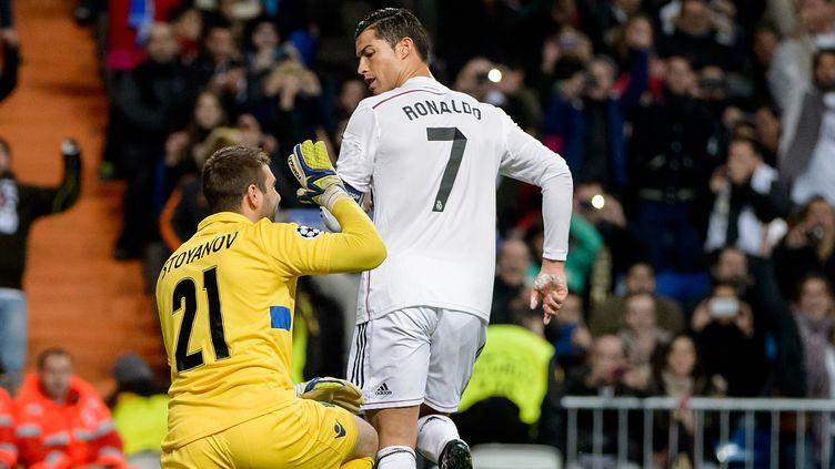 Cristiano Ronaldo s'est offert son 72e but en Ligue des champions. (DANI POZO / AFP)