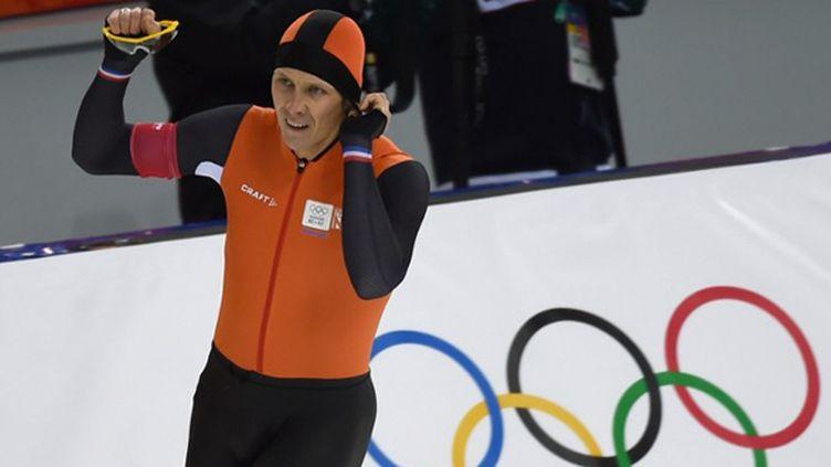Stefan Groothuis a apporté une nouvelle médaille aux Néerlandais sur 1000m. (DAMIEN MEYER / AFP)