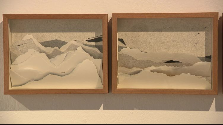 A travers ses oeuvres, Najah Zarbout propose un regard engagé sur l'existence humaine. (J. Paul Stefani / France Télévisions)