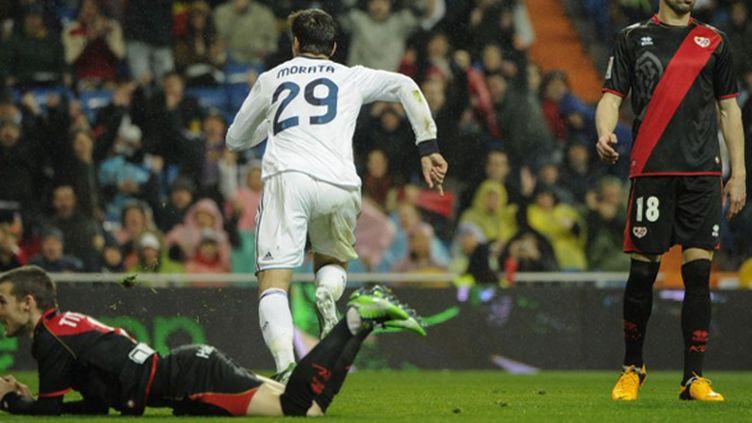 Alvaro Morata (Real Madrid) buteur contre le Rayo Vallecano (PEDRO ARMESTRE / AFP)