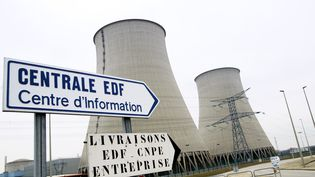 Les deux réacteurs de la centrale nucléaire de Nogent-sur-Seine (Aube), le 22 février 2006. (ALAIN JULIEN / AFP)