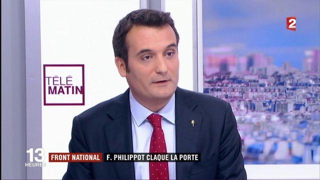 Front national : Florian Philippot claque la porte