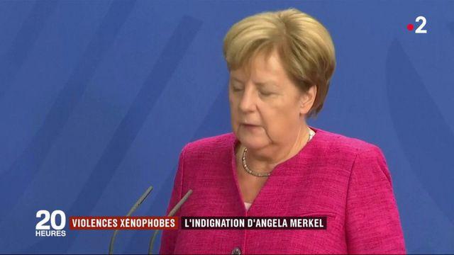 Violences xénophobes en Allemagne : l'indignation d'Angela Merkel
